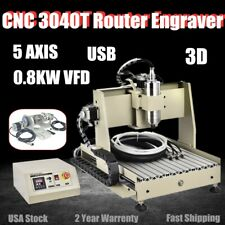 800W USB 5 Axis CNC 3040 Router Engraving Machine Engraver Milling 3D Cutting US
