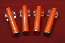 Lot of 4 Parker Eversharp Orange Ball Point Cap PARTS (Ref.#9470)