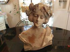 Antique Chalkware Roman Statue Copy SAPHO