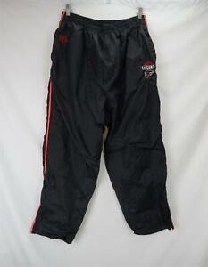 NFL Atlanta Falcons Embroidered Logo Windbreaker Track Pants Black Men's XL