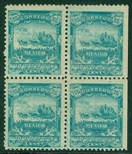 MEXICO : 1898. Scott #286. Block of 4. Fresh, VF, Mint Original Gum. Cat