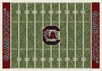 "5x8 Milliken South Carolina Gamecocks NCAA Field Area Rug - Approx 5'4""x7'8"""