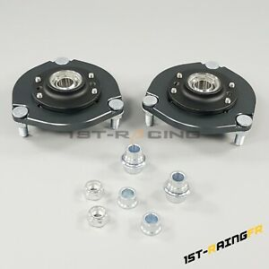 Front Adjustable Camber Plates for Mitsubishi Lancer Evo 10 X 08-15 Coilover