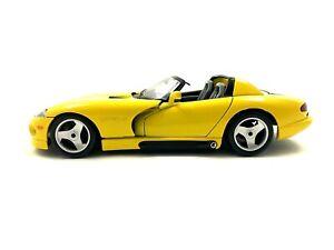 Burago Dodge Viper RT/10 Yellow Diecast Car 1/18 scale #492