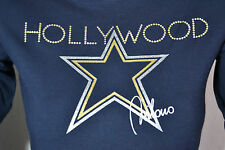 Hollywood MILANO Hologram shirt 34 36 S NUOVO 88 € NEW TAG BLU BLUE
