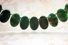 Jade Natural Flat Oval Smooth Gemstone Beads Loose Bead 22mm x 36mm