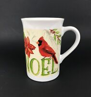 Royal Norfolk Holiday Christmas Cardinal Noel Coffee/Tea MUG EUC! 9-10 fl oz