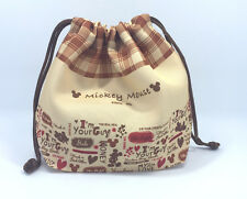 Mickey Mouse Lunch Snack Mini Drawstring Bag & Make up travel bag