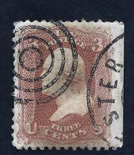 #65 – 1861 3c Washington, Rose