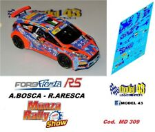 DECAL  1/43 -  FORD FIESTA R5  - BOSCA  - Rally MONZA 2017