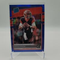 2020 Donruss Optic - Joe Burrow Prizm Blue Hyper Rated Rookie RC #151 Bengals