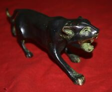 Wild Black Panther Animal Figurine Vintage Style Brass Animal Statue Home Decor