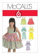McCall's Sewing Pattern M6017 SZ 1-3 Toddlers Easy Pullover Dress's,Tops Pants