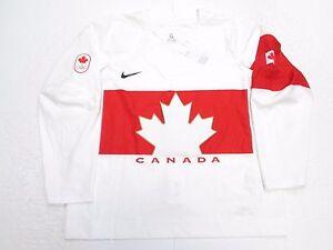 TEAM CANADA AUTHENTIC WHITE SOCHI 2014 OLYMPICS NIKE SWIFT HOCKEY JERSEY SIZE 56
