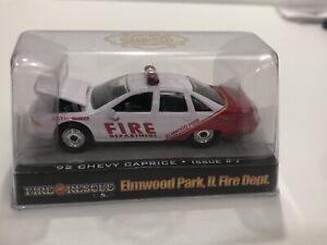 1992 CHEVY CAPRICE ELMWOOD PARK, IL. FIRE DEPT    RACING CHAMPIONS FIRE & RESCUE