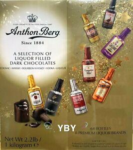 Anthon Berg Liquor Filled Chocolate Dark Chocolate Liqueur 64 CT 2.2 LB