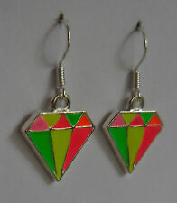 Shine on you crazy diamond! earrings bling neon punk rockabilly emo