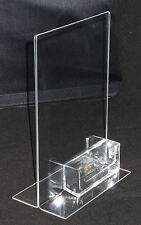 A5 Portrait Double Sided Menu / Poster Holder + Business Card Holder PDS8042BCH