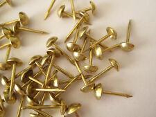 100 pequeños clavos Tapicería 6mm Muebles Postes Bronce Madera Tela Pines tachuelas