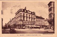 ELBOEUF 87 LL place du calvaire voitures tabac fleuriste cinéma timbrée 1933