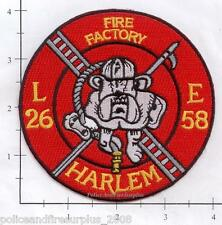 New York City NY Fire Dept Engine 58 Ladder 26 Patch v11