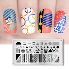BORN PRETTY Nail Stamping Plate Rectangle Lines Design Image Plate Geometry L001