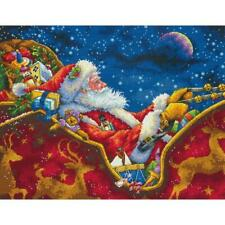 Dimensions Gold Collection Counted Cross Stitch Kit Santa's Midnight Ride 14X11