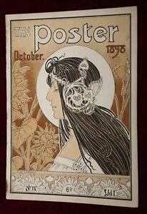 EXRare ORIGINAL 1898 ART NOUVEAU POSTER MAGAZINE PRIVAT LIVEMONT ALPHONSE MUCHA!