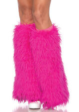 FURRY LEG WARMERS HOT PINK ADULT HALLOWEEN COSTUME ACCESSORY SIZE STANDARD