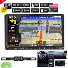 7 Inch HD Touch Screen Double 2 Din Car Stereo DVD Player Radio GPS Navi +Camera