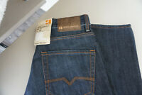 HUGO BOSS Orange Regular Fit Herren Jeans Hose W31 L34 darkblue stonewashed Neu