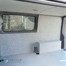 Stretch Van Lining Conversion Carpet Light Grey 4 Way Pliable Velour Trim Silver