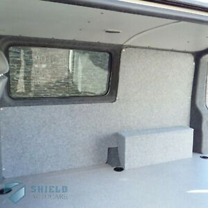 Stretch Van Lining Conversion Carpet Light Grey 4 Way Pliable Velour Trim Silver