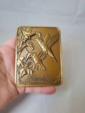 1990 Madison Collection Friendship Poem Hummingbirds in Embossed Bronze 14 Oz