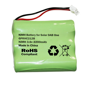 RECHARGEABLE BATTERY FITS ROBERTS SOLAR DAB ONE 1 RADIO NI-MH 3.6v AA 2200mAh