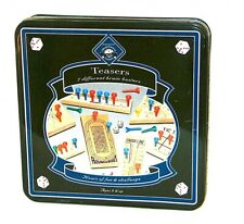 Teasers 7 Wooden Brain Teasers Puzzles in a Tin Hours of Fun & Challenge New