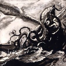 CTHULHU PRINT of Clay & Ink Works by Wayne M. Bridge, Based on H.P. Lovecraft