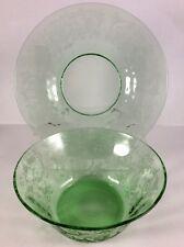 Fostoria Versailles Finger Bowl & Underplate * GREEN *