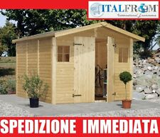 Box Casette di Legno Casetta da Giardino in Legno d'Abete16mm mq7,7 ITALFROM38