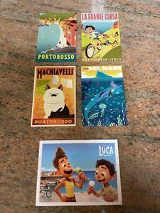 NEW / Sealed: BUNDLE Disney Pixar Luca Lithograph + 4 Postcard Set w/ Free Ship