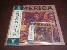 AMERICA S/T RARE JAPAN REPLICA ORIGINAL LP IN A OBI CD + JAPAN AUDIOPHILE LP
