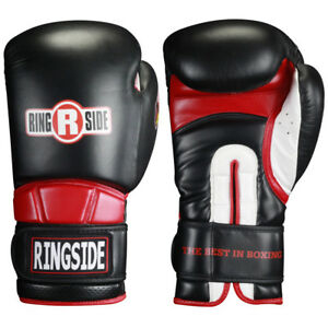 Ringside Boxing Hook and Loop Safety Training Gloves - Black/Red