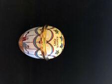 "New listing Halcyon Days Enamel Trinket Box Easter Egg 1985, French Hot Air Balloon – 2 1/4"""