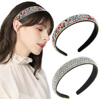 Women's Crystal Headband Colorful Hairband Hair Crown Hoop Band Accessories Prom