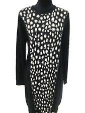 NEW Philosophy sweater dress Size Large Black Gray cashmere blend