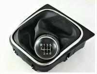 POMELLO DEL CAMBIO + CUFFIA 6 MARCE per VW GOLF 5 V 2003-2008 CROMATO