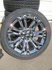 """22"""" New Chevrolet Tahoe Silverado Suburban Chrome Rims 3054022 Nexe Tires 5666 C"""