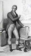 GRAVURE ANCIENNE 19e - JEAN LOUIS DAVID - PEINTRE