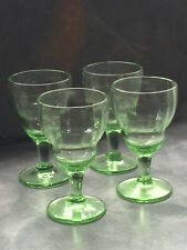 More details for  set of four very pretty early vintage green liqueur / cordial glasses