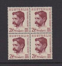 Australia 1949 Henry Lawson Poet MNH SG231 Block of 4